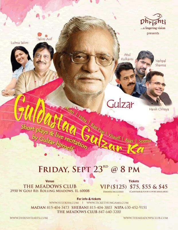 Dhrishti presents: Gulzar live