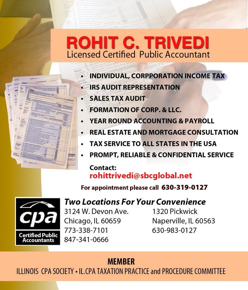 Income Tax Services by Rohit Trivedi - Asian Media USA
