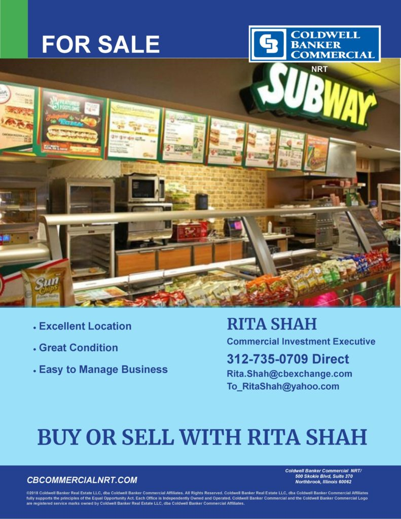 Subway for Sale Rita Shah - Asian Media USA