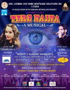 Tere Naina Musical event @ Monty's Elegant Banquet | Bensenville | Illinois | United States