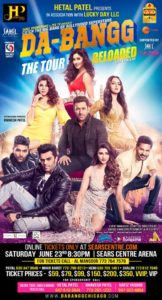 Da-Bangg Tour - The Tour Reloaded by Bollywood Superstars @ Sears Centre Arena | Hoffman Estates | Illinois | United States